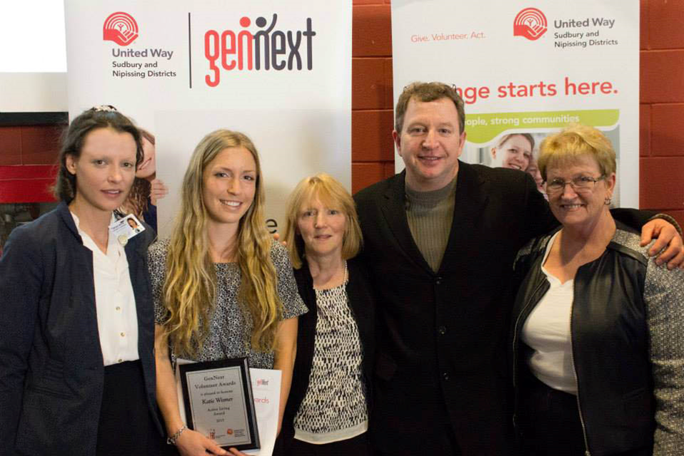 2015 United Way recipient of the Next Gen Award 2015 - Katie Wismer