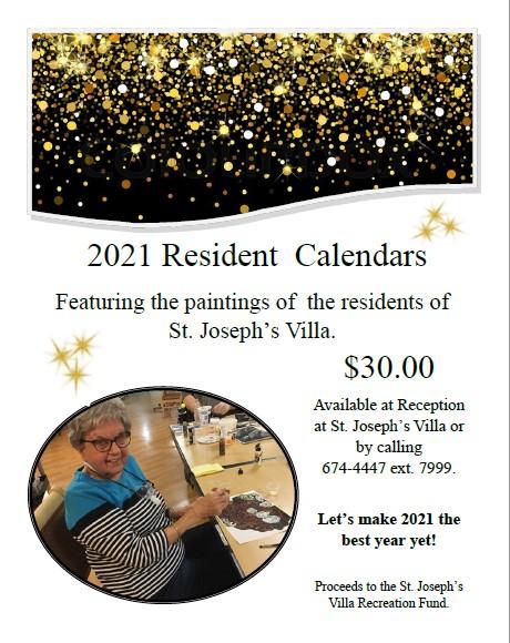 2021 Resident Calendars Poster