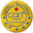 CARF Canada Accredited Logo Crest