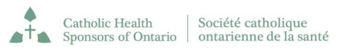 Catholic Health Sponsors of Ontario CHSO logo