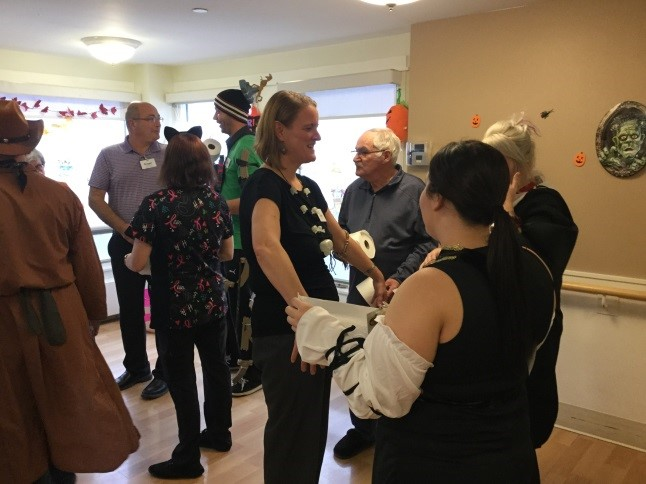 SJV Staff and Residents dressed in Halloween Costumes