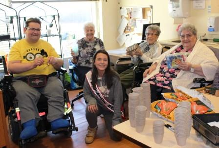 Ms. Rayside Balfour donates gardening supplies