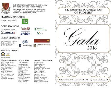 2016 Gala Program