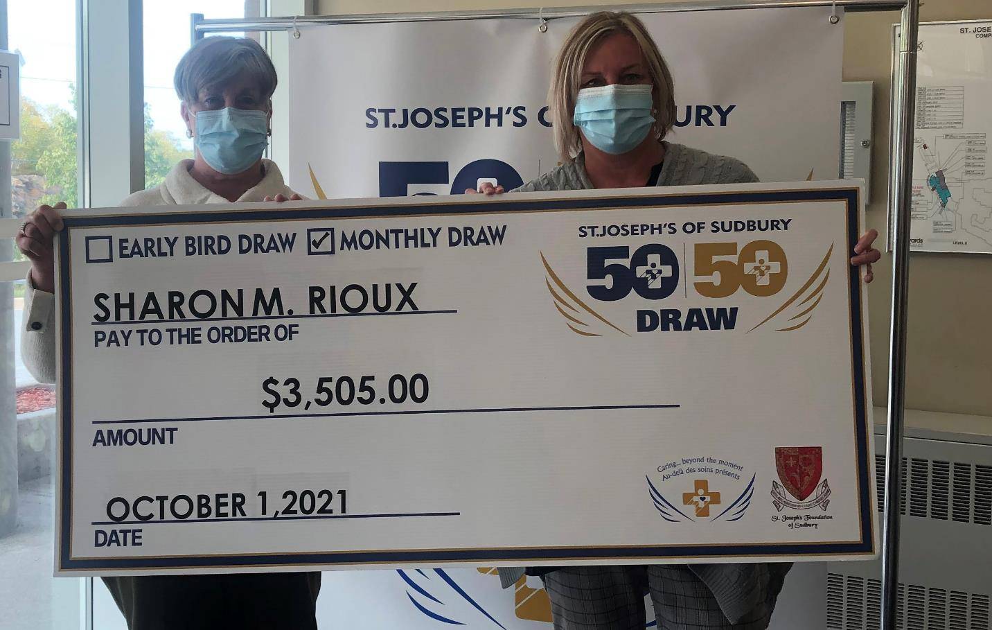 Sharon Rioux wins 50 50 draw