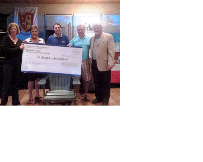 SBM 2015 Chip in for Charity Cheque Presentation