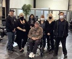 Staff of the Harley Davidson Shop and St. Joseph's Villa; the Freedom Riders
