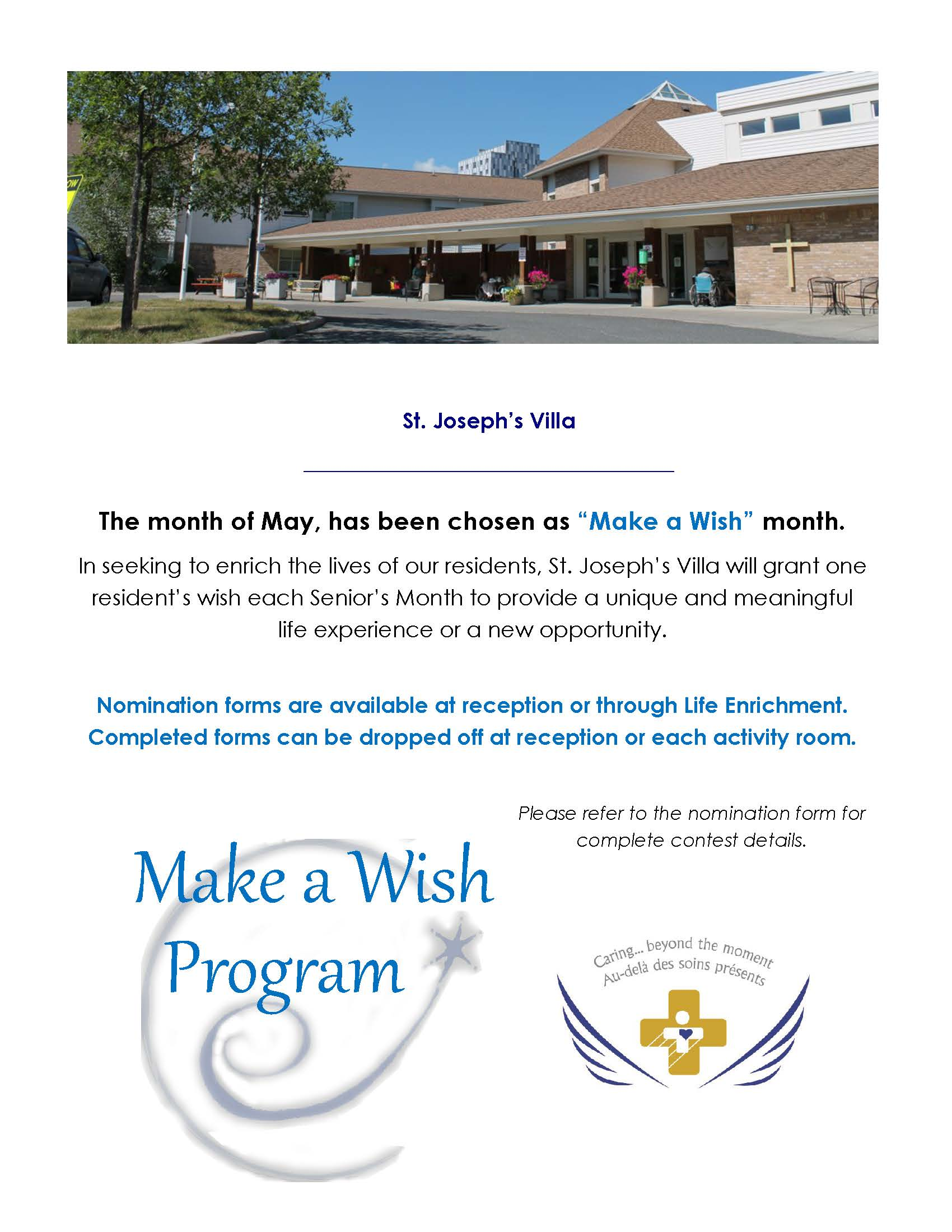 SJV Make-A-Wish Program poster