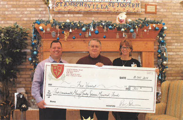 Sabourin Famiy Donation to St. Joseph`s Foundation