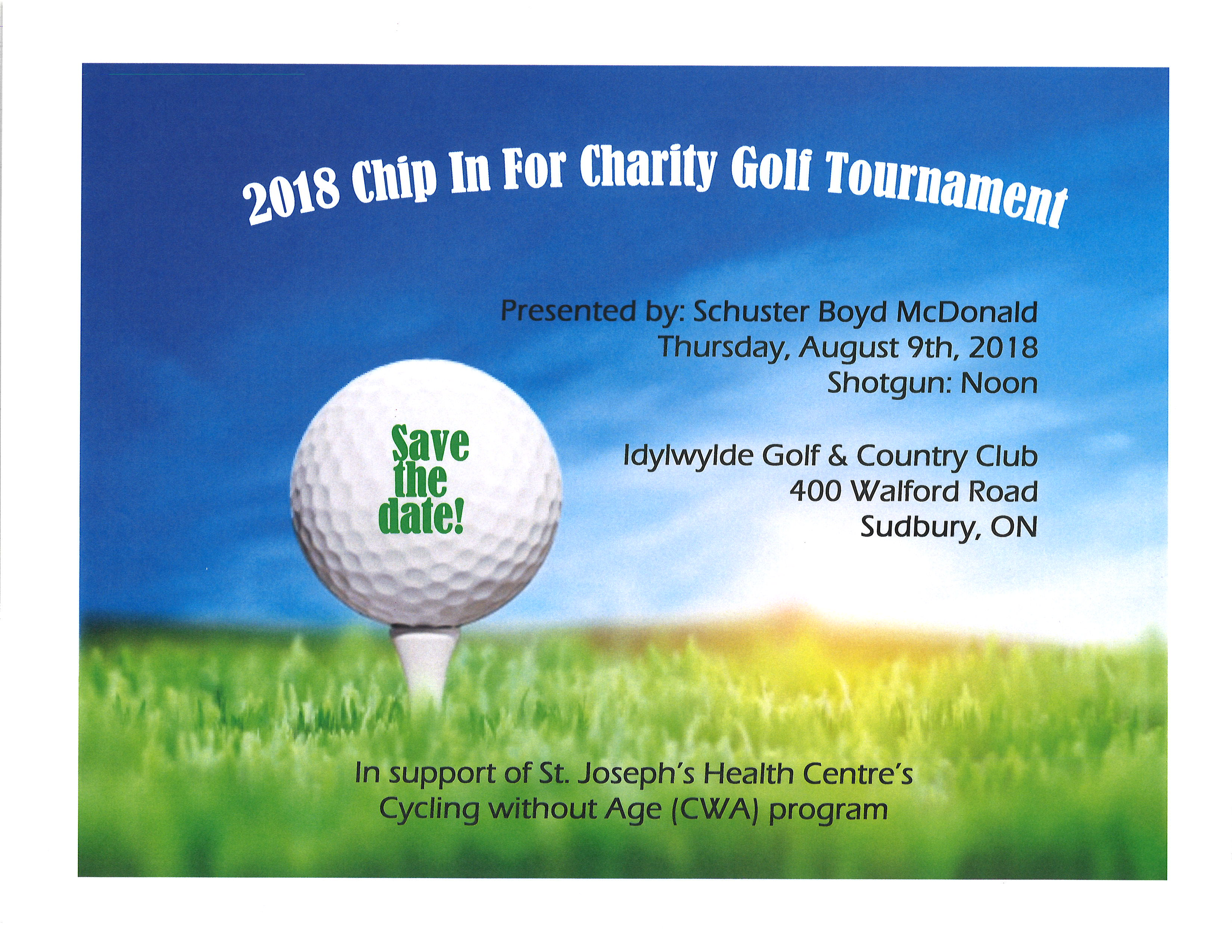 Save the Date - Chip in for Charity