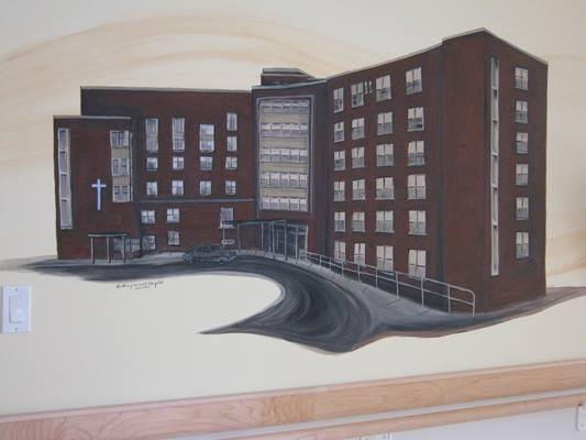 Sisters of St. Joseph of the Sudbury General Hospital of the Immaculate Heart of Mary - History Wall Rendition