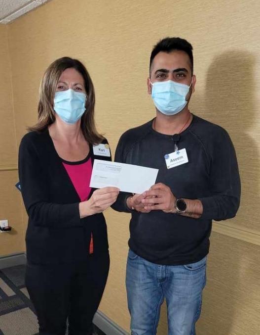 Kari Gervais & Aseem Khajuria Staff Vaccination Incentive