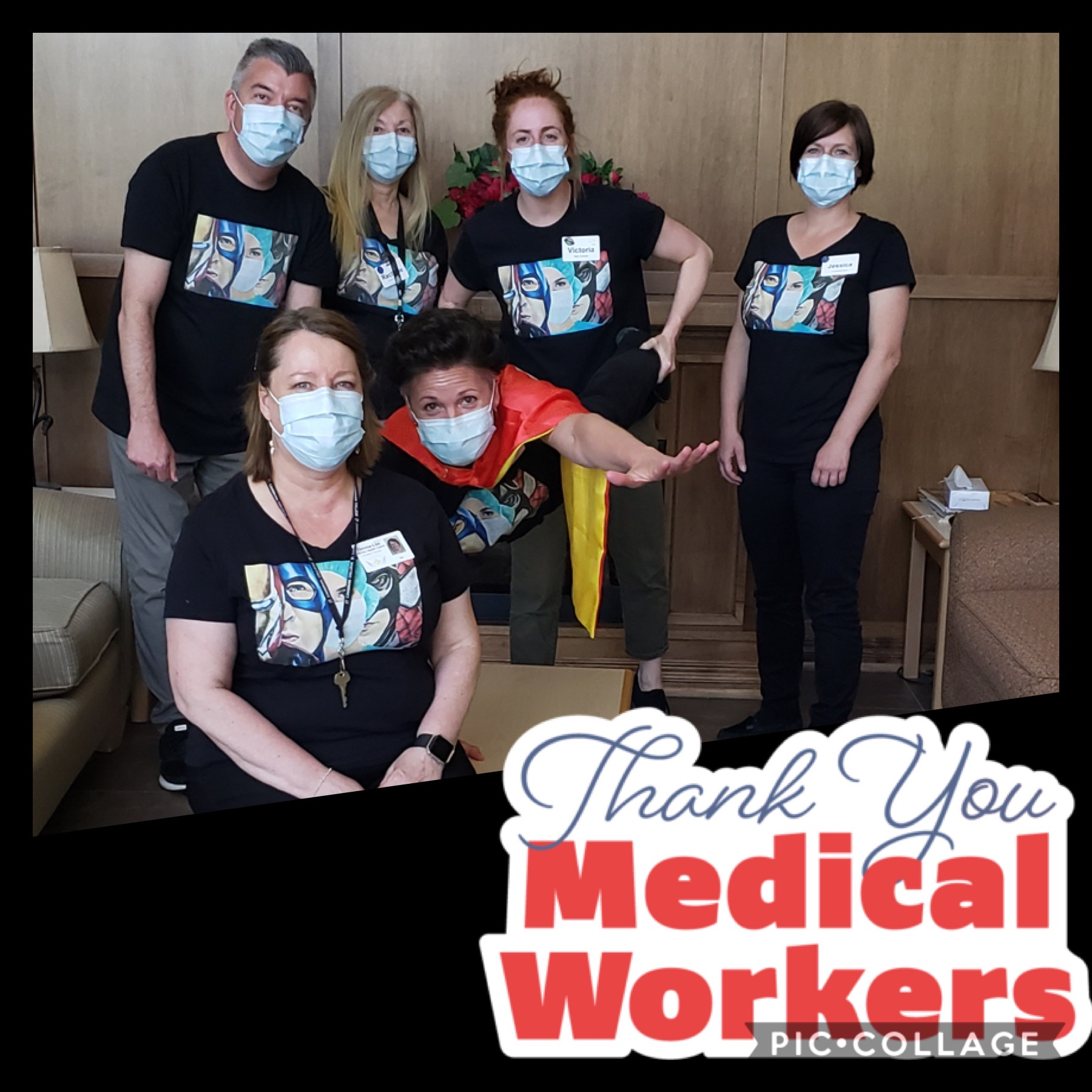 Thanks You Medical Workers VSGV staff wearing PPE