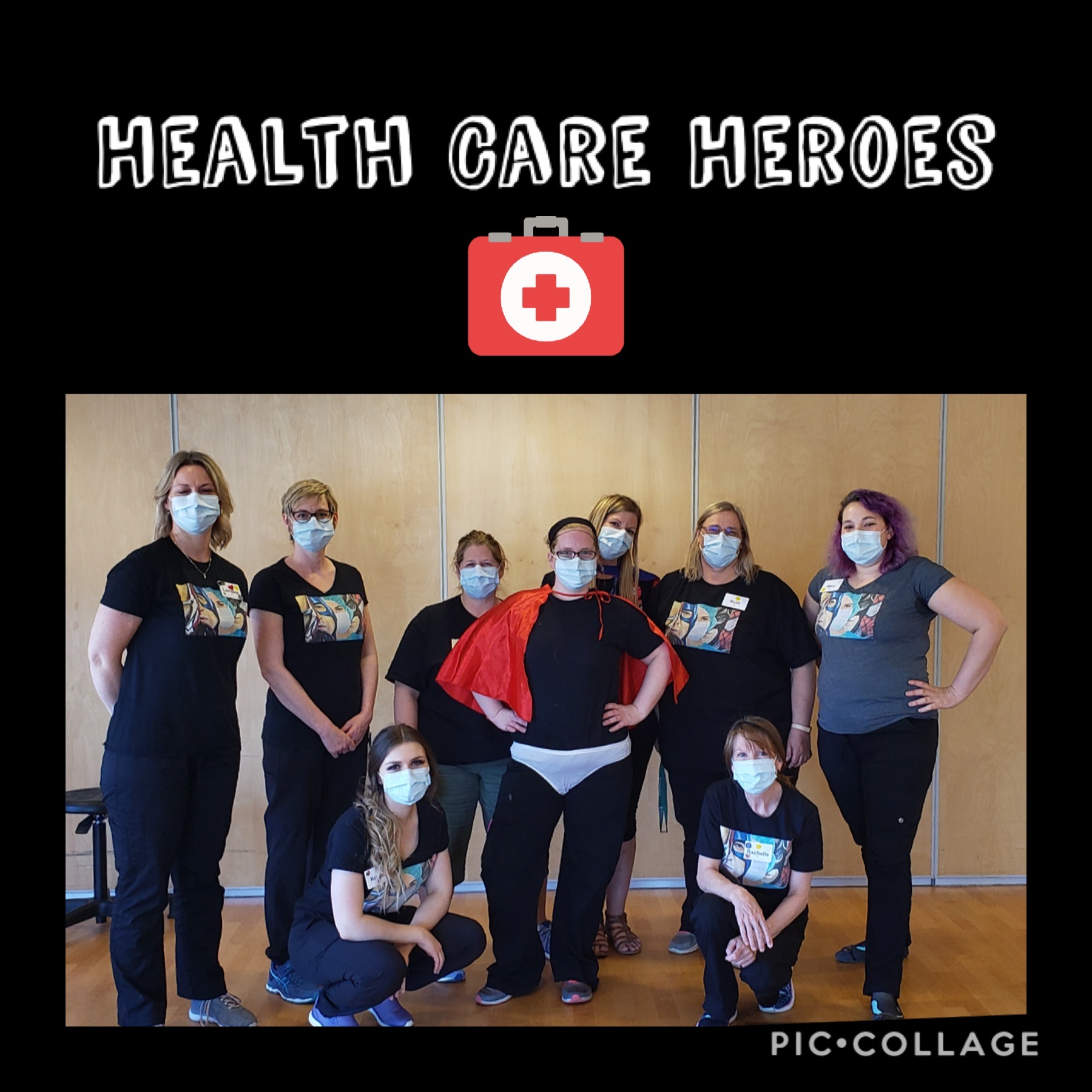 Health Care Heroes VSGV Staff wearing face masks