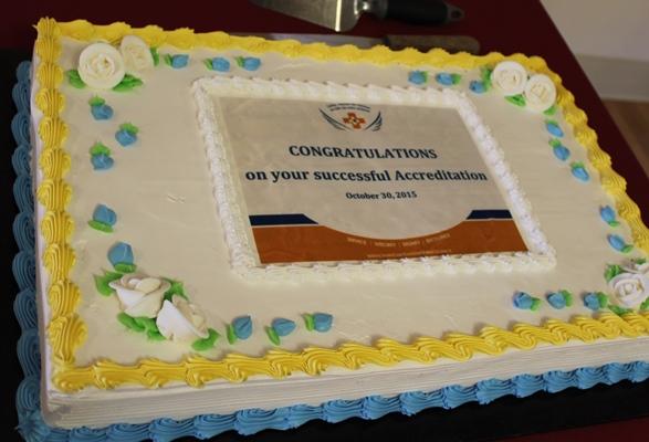 SJV Accreditation Cake