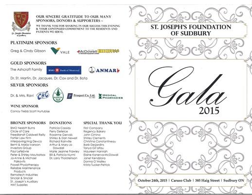 Gala 2015 Program
