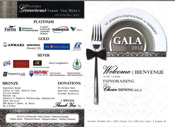 Gala Program 2012