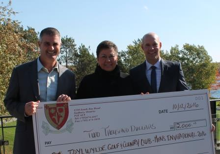 Men's Invitational donates to St. Joseph's Foundation of Sudbury cheque presentation